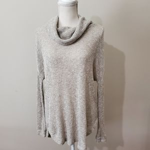 LUSH Open Knit Cowl Neck Sweater Sz. Med